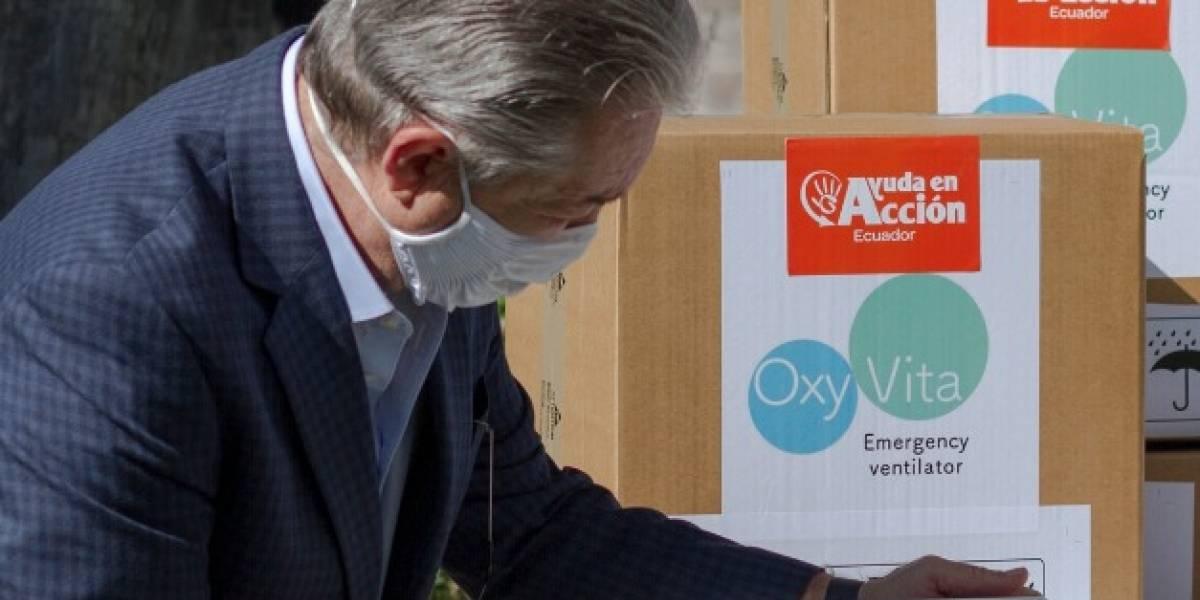 Ayuda en Acción donó 15 respiradores para atención de pacientes con COVID-19 en Ecuador