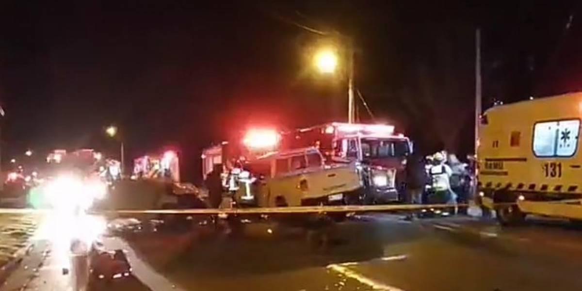 Fatal accidente de tránsito en el Maule: hay tres personas fallecidas y al menos seis heridas