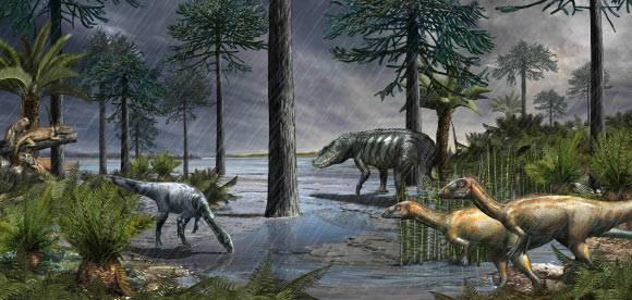 Antes de la extinción de los dinosaurios ocurrió el Episodio Pluvial Carniense.