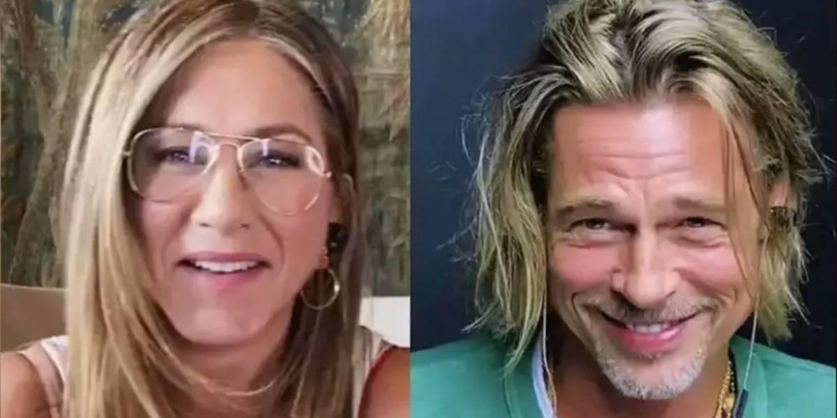 Brad Pitt y Jennifer Aniston coquetean en emocionante reencuentro