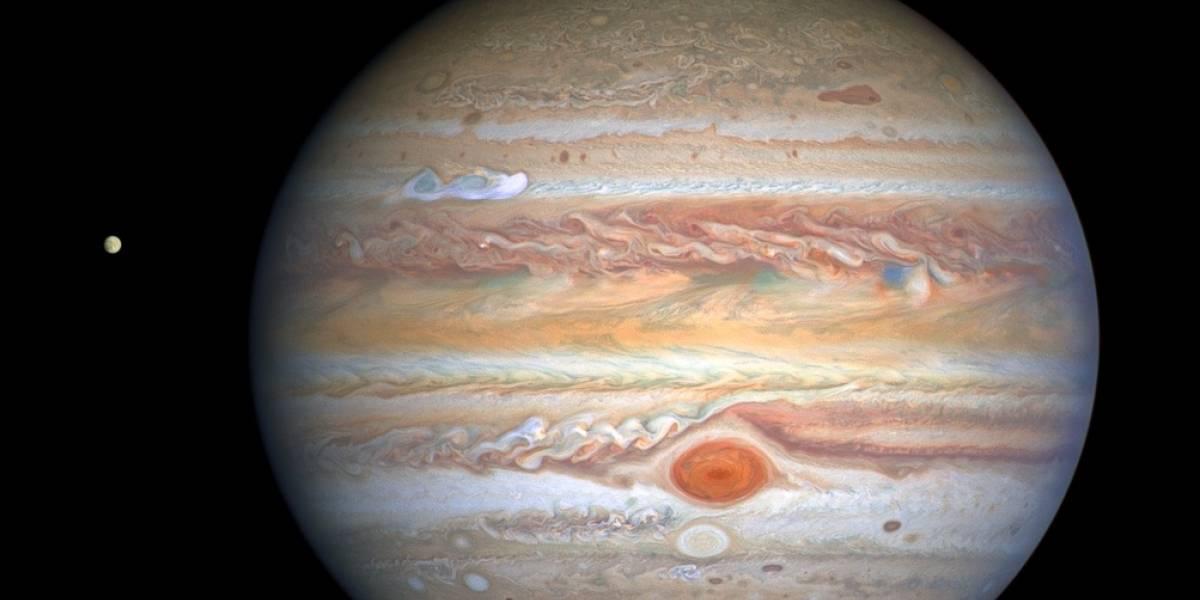 La NASA compartió esta impresionante imagen de las tormentas de Júpiter
