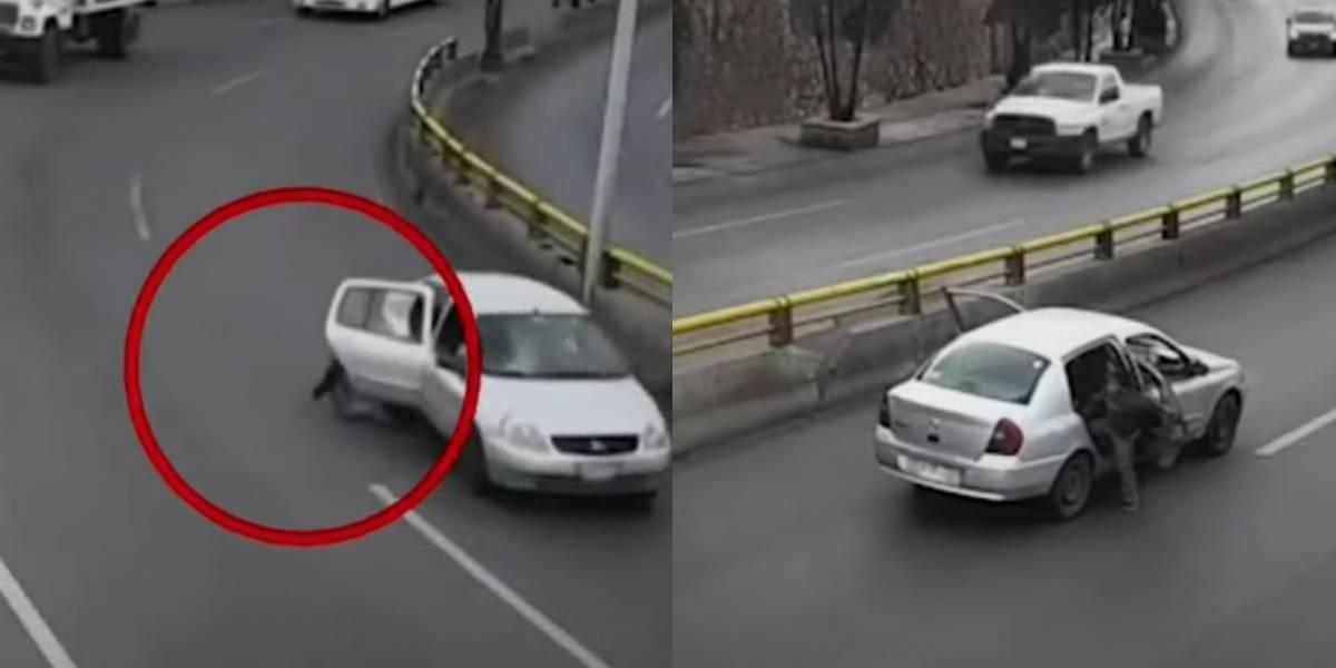 Niño sin cinturón de seguridad sale volando del auto en el que viajaba