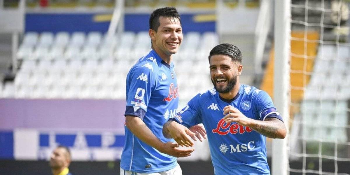 'Chucky' Lozano titular y pieza clave en victoria del Napoli