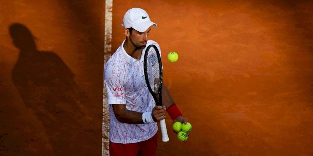 Otra vez en la polémica: Novak Djokovic recibe advertencia por obscenidad en Roma