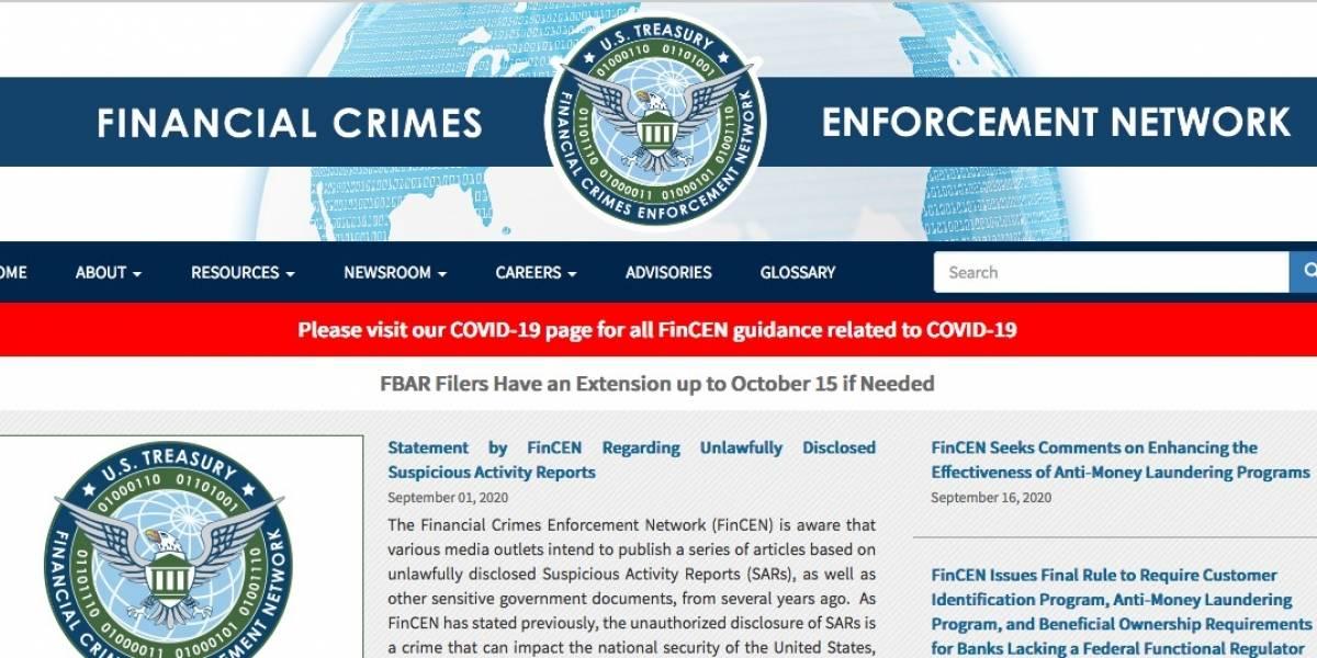 FinCEN Files, filtración masiva de documentos que vincula a bancos mundiales con el lavado de dinero