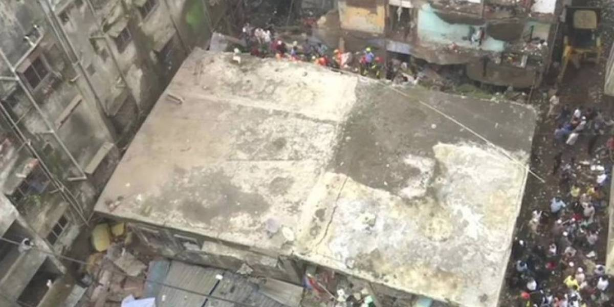Derrumbe de edificio residencial provoca la muerte de al menos 10 personas