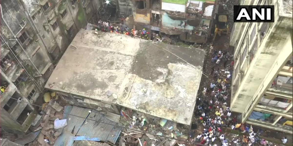 Derrumbe de edificio en India deja al menos 10  muertos