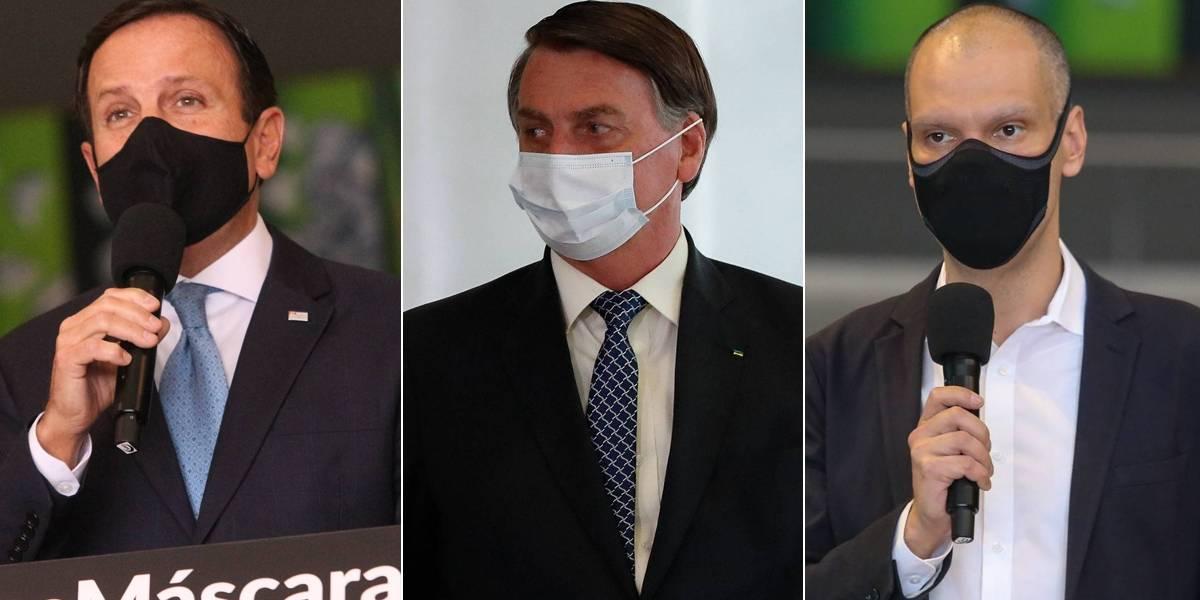 Pesquisa Ibope mostra avaliação de Bolsonaro, Doria e Covas na capital paulista