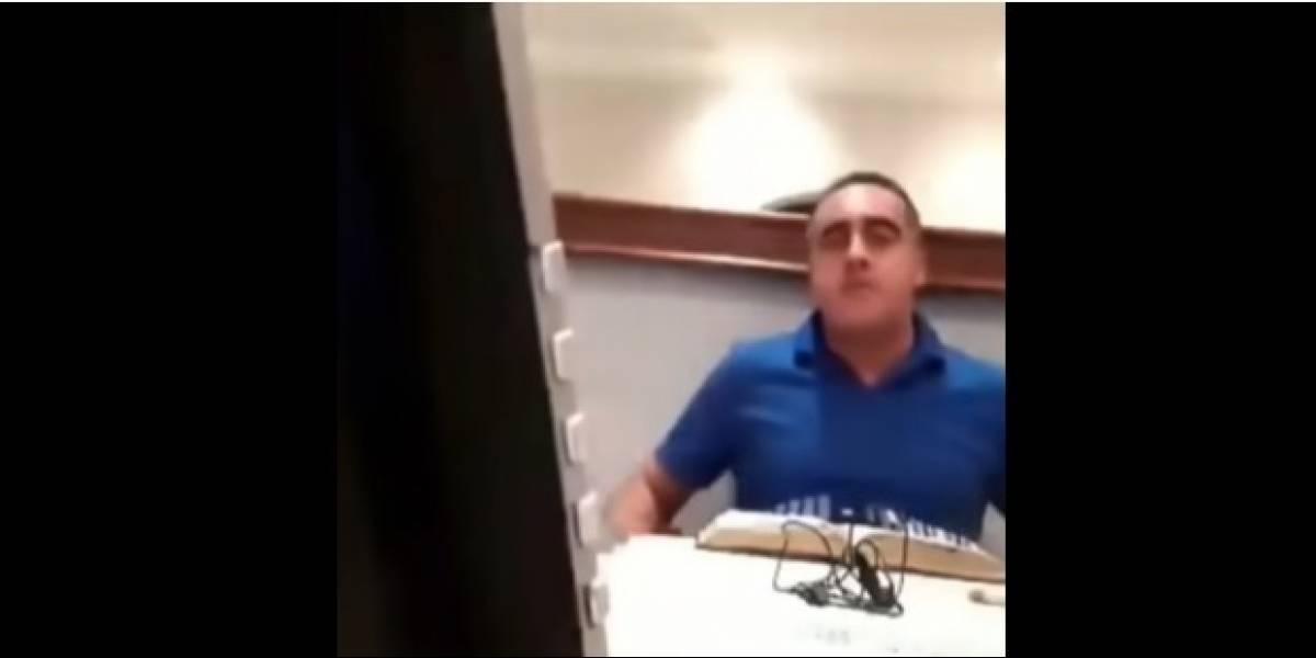 Pastor agredió a su esposa sin darse cuenta que estaba en vivo