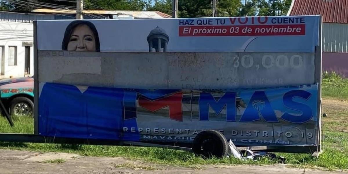 Representante denuncia destrucción de propaganda política en Mayagüez