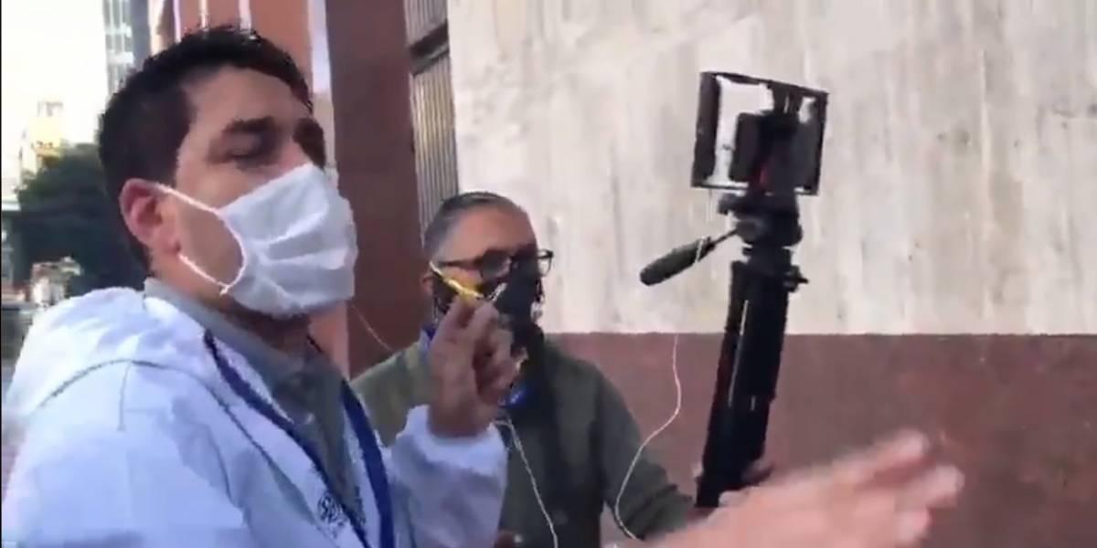 Periodista de Semana denuncia que Esmad les disparó
