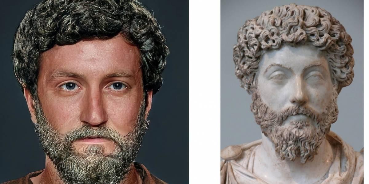 Así lucían los emperadores romanos en la vida real