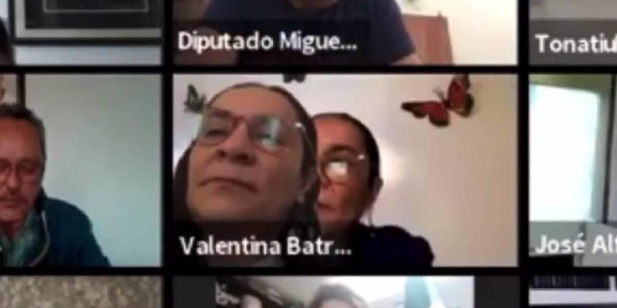 Sorprenden a diputada mexicana colocando una foto de ella para simular que estaba en una sesión en Zoom
