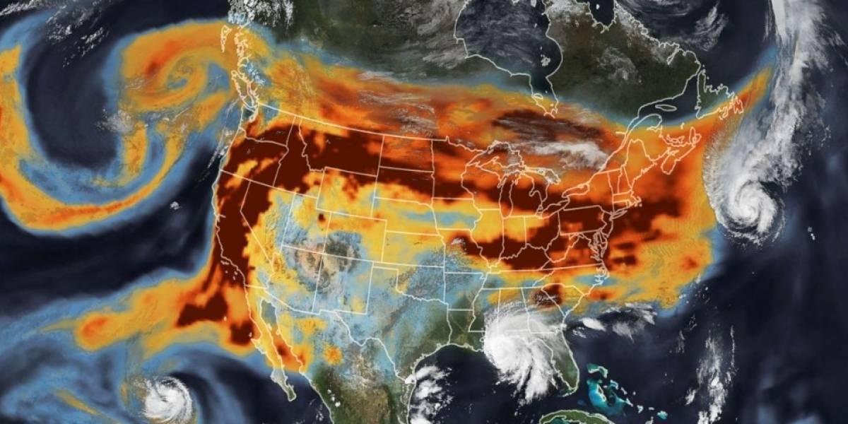 NASA: La impactante imagen satelital con los incendios y huracanes en Estados Unidos