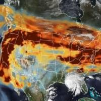 NASA: La impactante imagen satelital con los incendios y huracanes en Estados Unidos. Noticias en tiempo real