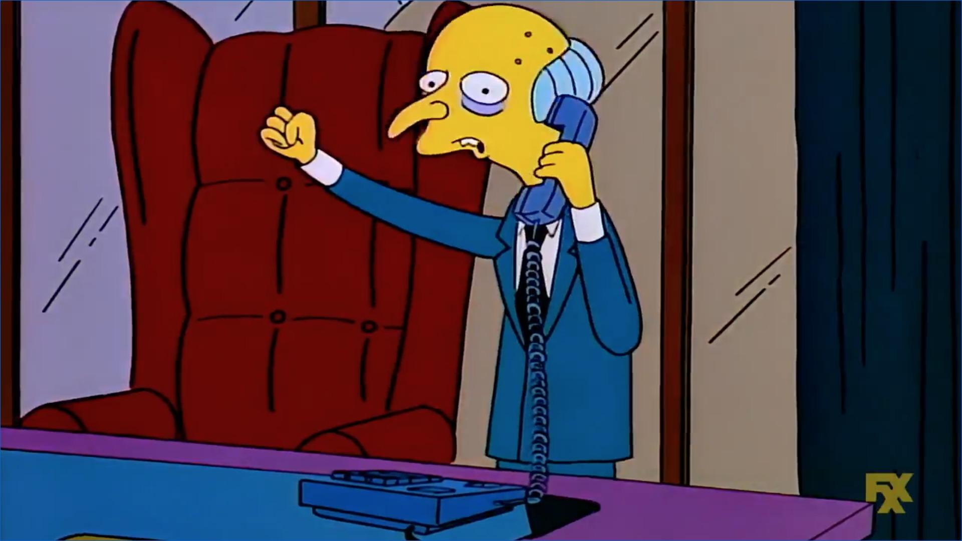 Los Simpson teléfono de Moe