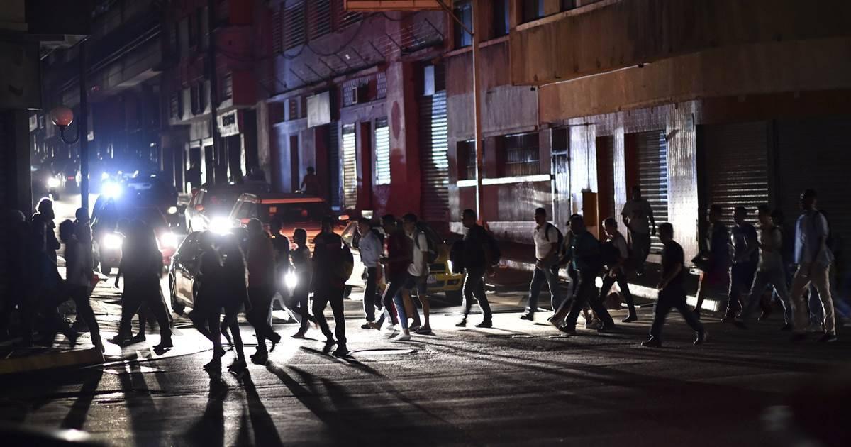 Apagón de luz en Venezuela