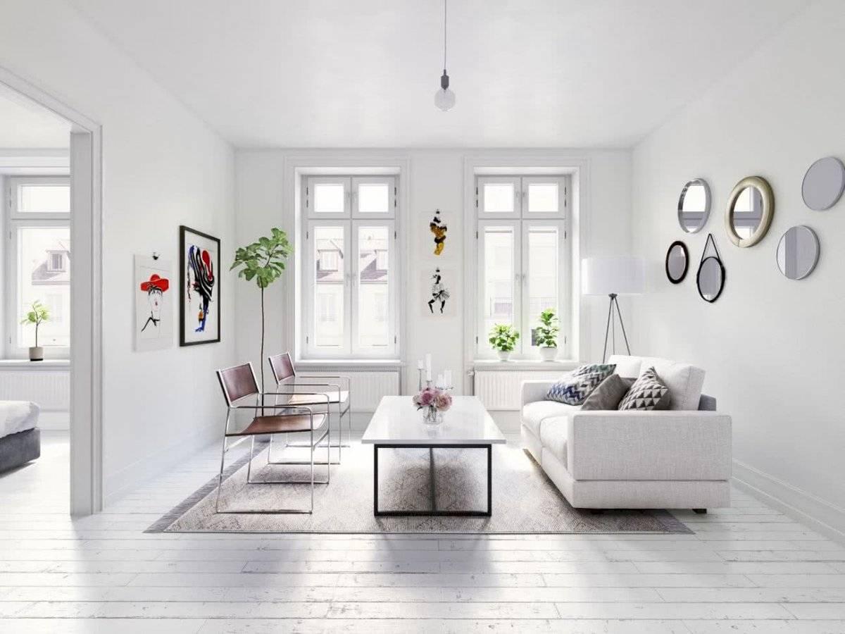 El color blanco se adueña de las paredes en la decoración del hogar