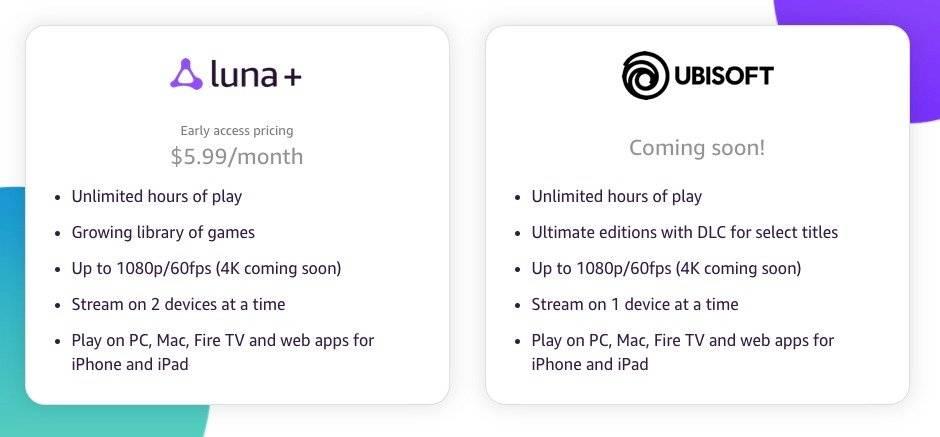 Amazon Luna videojuegos