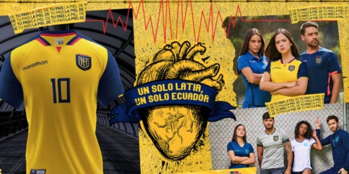 Presentan oficialmente la nueva camiseta de la selección de Ecuador