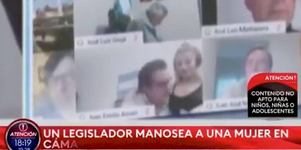 Escándalo total en Argentina: diputado protagoniza escena sexual durante sesión