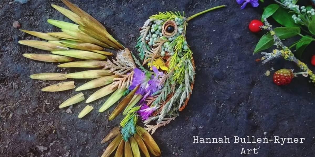 Materiales naturales se convierten en increíble arte de aves