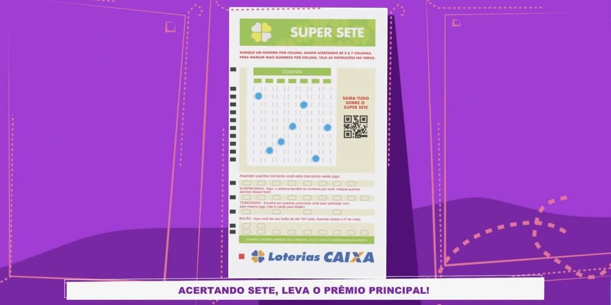 Nova loteria: Apostas da Super Sete vão até as 19h desta quinta