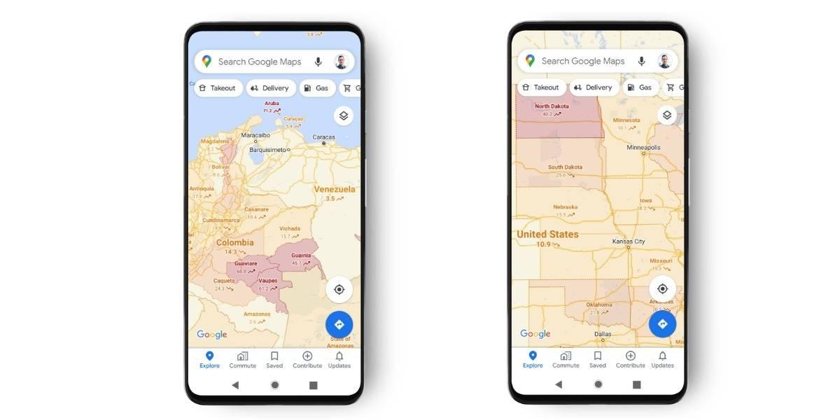 Coronavirus: Google Maps se actualiza para advertirte zonas de mayor contagio