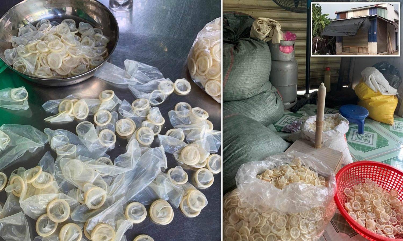 Preservativos reciclados en Vietnam.