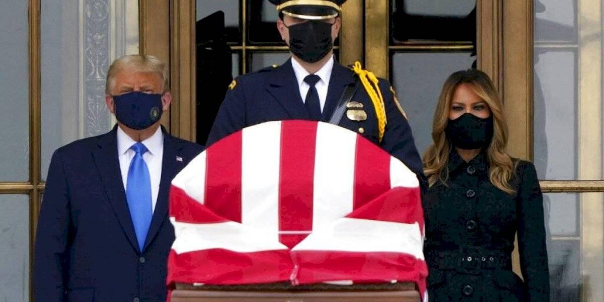 Abuchean a Trump al participar de tributo a la jueza Ruth Bader Ginsburg