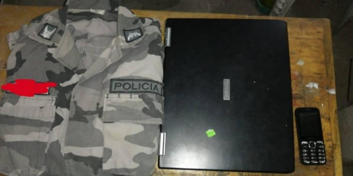 Fiscalía incauta celulares, dinero en efectivo y uniformes policiales en operativo por presunta delincuencia organizada