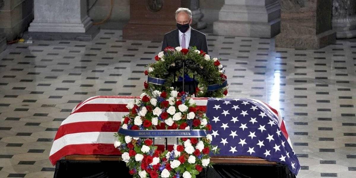 Rinden homenaje a la jueza Ruth Bader Ginsburg en el Capitolio de EEUU