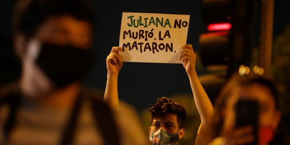 FOTOS: En Cali hubo protesta por el asesinato de Juliana Giraldo
