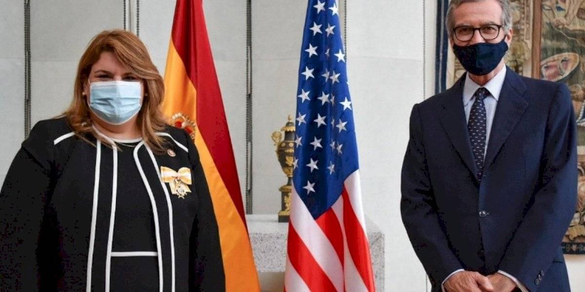 Rey de España reconoce a la comisionada residente