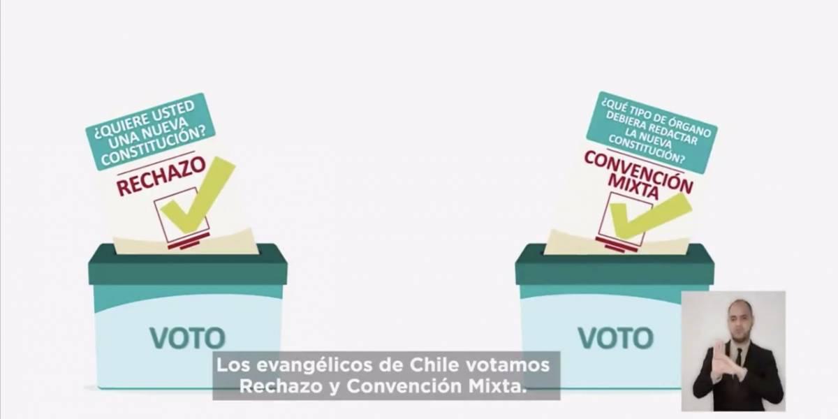 Evangélicos demuestran su descontento con la aparición en la franja electoral del rechazo