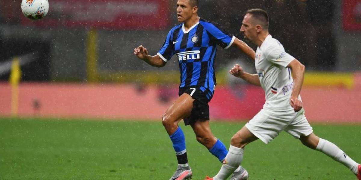 Alexis Sánchez salta desde la banca y es vital en remontada 4-3 del Inter ante Fiorentina