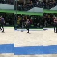 ¡Ha vuelto! Lobo Vázquez muestra sus mejores pasos de baile en público