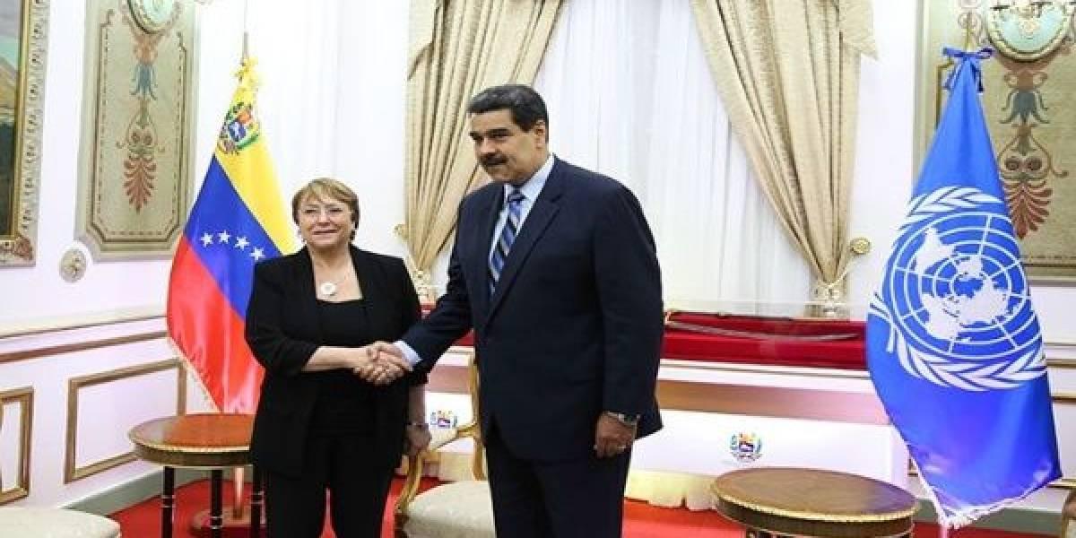 """Desafían a Michelle Bachelet en Venezuela: """"Venga y vea nuestra democracia, no le tenga miedo a la verdad"""""""