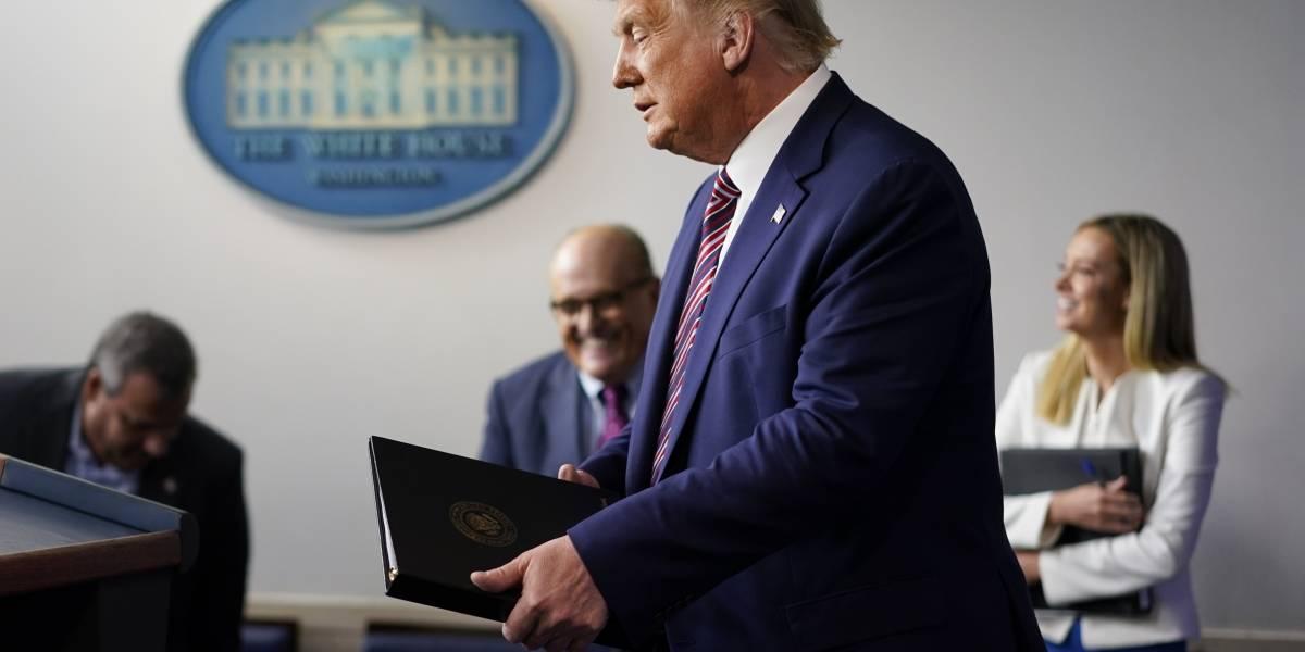 """Trump recibe medicamentos """"severos"""" tras positivo a Covid-19"""