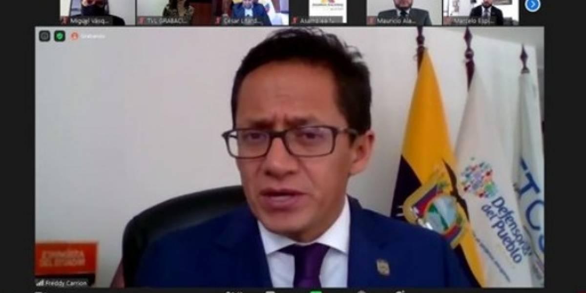 Defensor del Pueblo de Ecuador hace público que está contagiado de Covid-19
