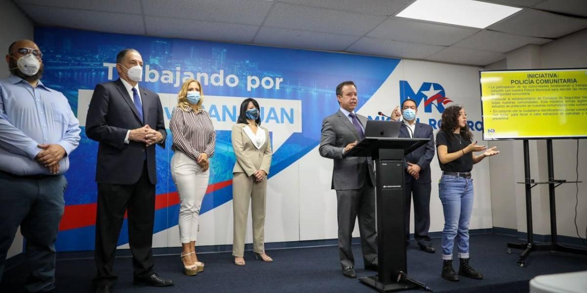 Miguel Romero presenta su plan de seguridad para San Juan