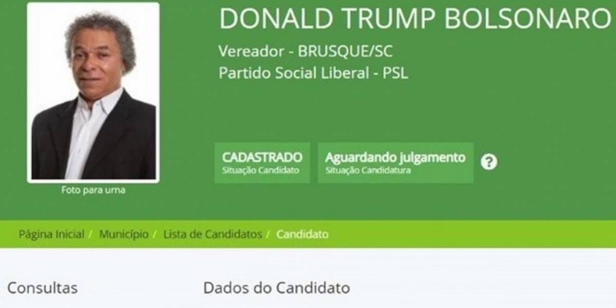 """""""Sus pensamientos son los mismos que los míos"""": candidato a concejal se inscribe como """"Donald Trump Bolsonaro"""" en Brasil"""