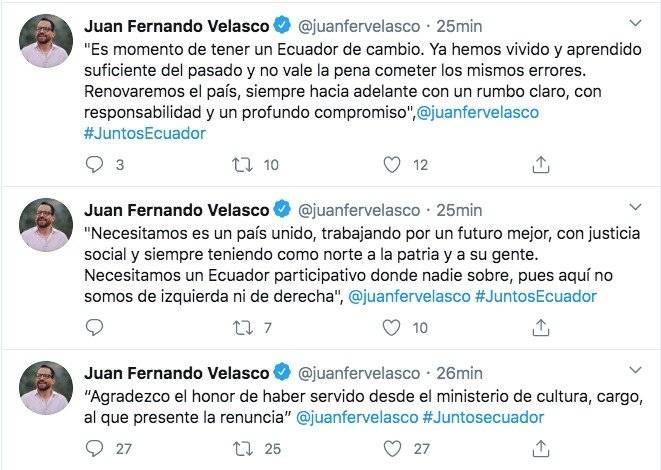 Twitter Juan Fernando Velasco