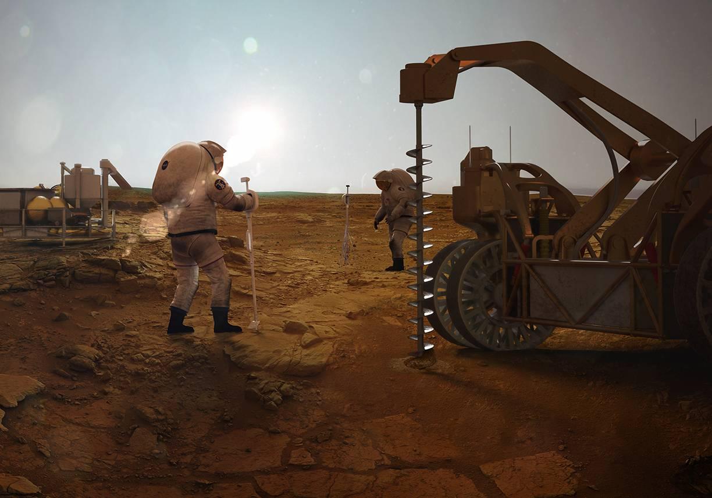 Así se realizarían las exploraciones en Marte.