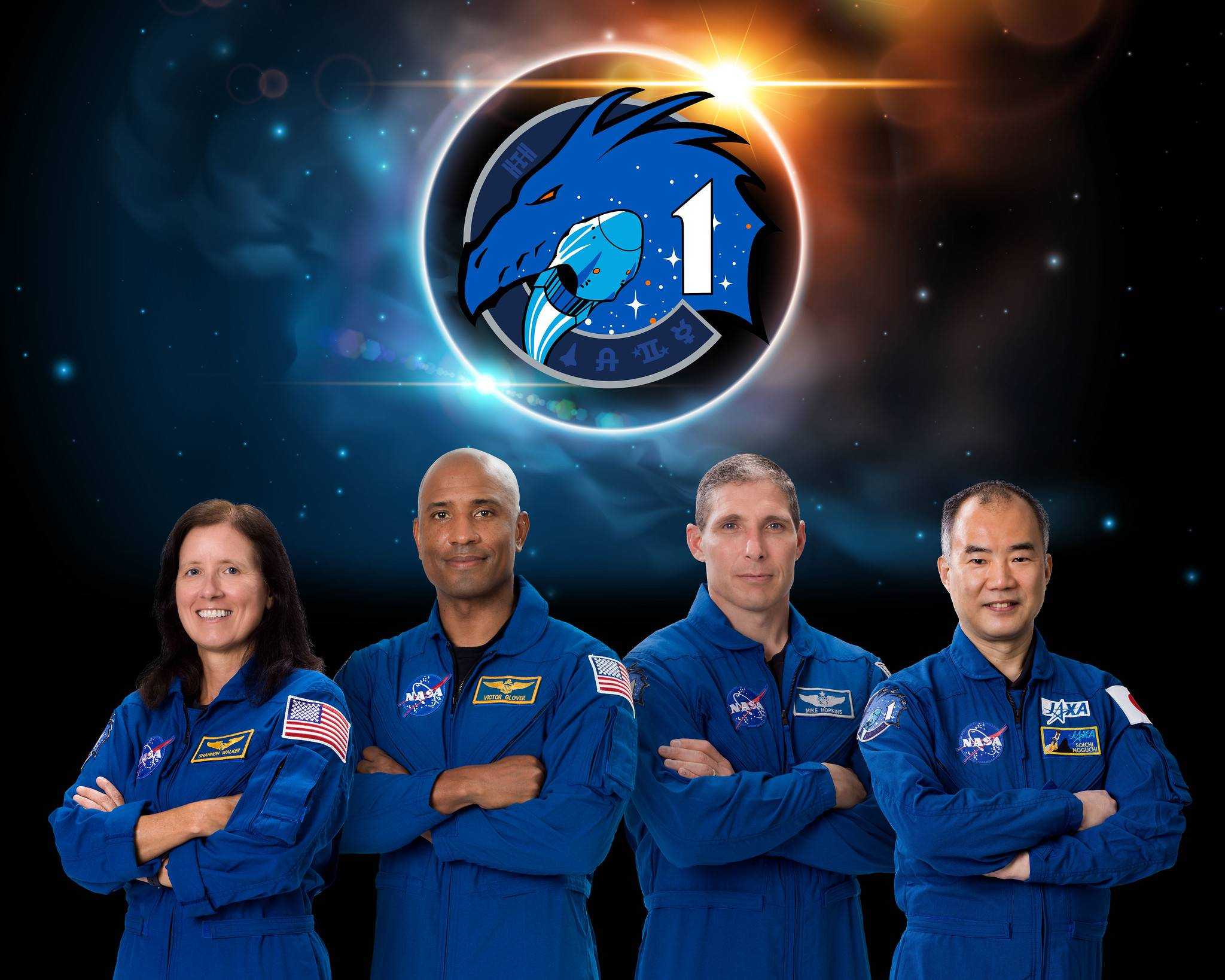 Astronautas del Crew Dragon