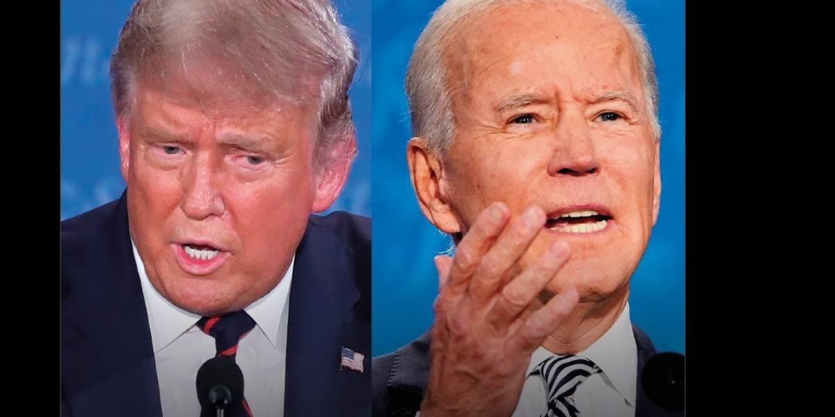 """Debate presidencial Estados Unidos: Trump llama """"socialista"""" a Biden y éste le dice """"mentiroso"""""""