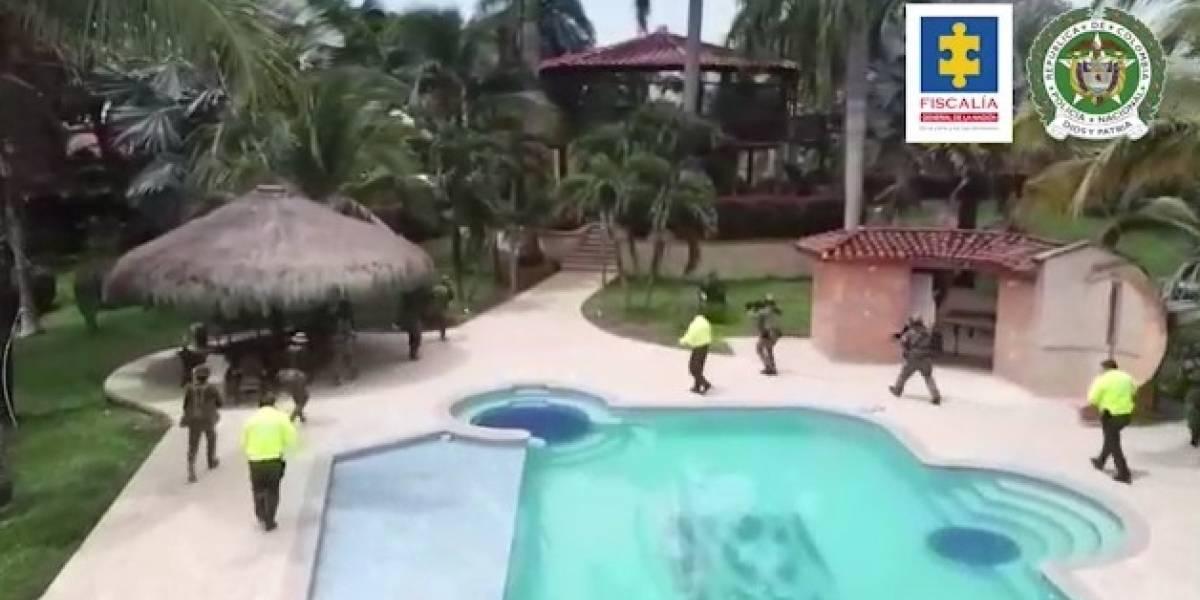 Las lujosas casas y fincas del narcotráfico que ocupó la Policía