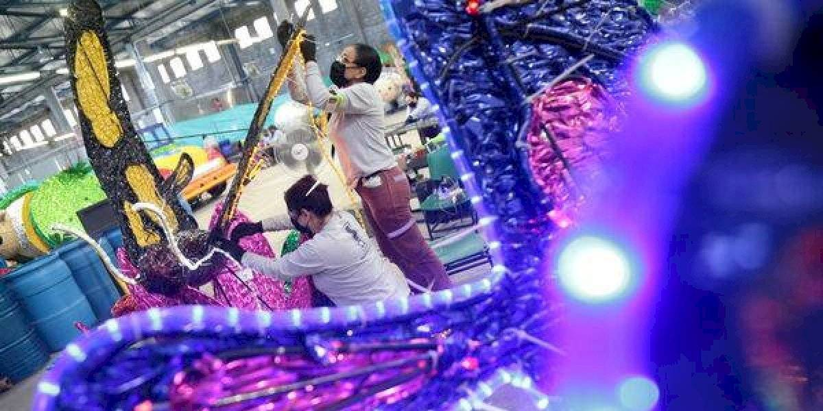 Inició el montaje de los alumbrados navideños, que volverán al río Medellín
