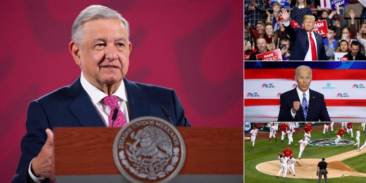 Se pierde López Obrador debate Biden vs Trump y playoffs