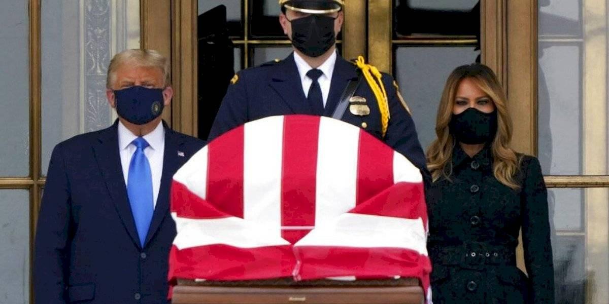 Donald Trump fue pifiado en el funeral de la jueza Ginsburg